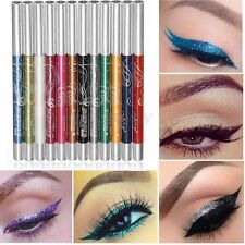 12 Color Glitter Eye Shadow Eyeliner Lip Liner Pencil Pen Cosmetic Makeup Set