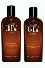 2 X AMERICAN CREW DAILY MOISTURIZING HAIR SHAMPOO 250ML - PACK 2 = 500ML - NEW