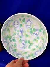 ntique HandPaint PORCELAIN LOTUS FLOWER RICE BOWL Mark On Bottom FLOW BLUE NIPP