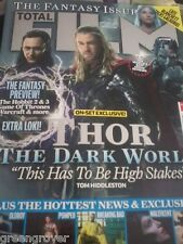 Total Film Magazine Tom Hiddleston 4 pgs Thor Dark World Nov 2013 Cate Blanchett