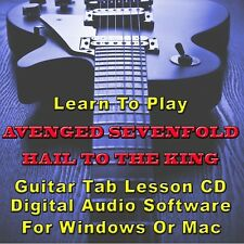 AVENGED SEVENFOLD Hail To The King Album Guitar Tab Lesson CD Software