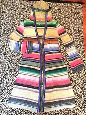 FREE PEOPLE Hooded Striped Ombre' Cardigan Duster Maxi Sweater Coat - XS