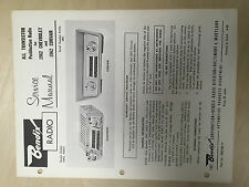 Bendix Service Manual for 1962 Chevrolet Corvair Radio R2BC R2BCT  ~  Original