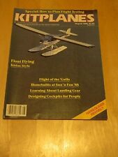 MAG BACK ISSUE KITPLANES AUG 1988 FLOAT FLYING KITFOX STYLE FLIGHT OF THE GULLS