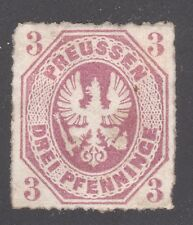 PRUSSIA STAMP #14 --  3pf COAT OF ARMS- 1867 -- UNUSED