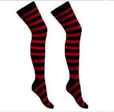 MultiPack 4X Ladies Women Striped Colourful Long Over The Knee Socks Job Lot