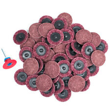 "50pc- 2"" Medium Maroon Roloc Quick Change Surface Conditioning Prep Sanding Disc"