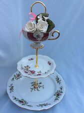 Wedding 3 Tier Cake Stand,Tiered Serving Tray,CUPCAKE TOWER, Moss Rose