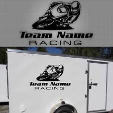 "Personalized Road Racing Trailer Decal, Road Racing Sticker - 36"" x 22"""