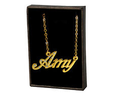 """Name Necklace """"AMY"""" - 18ct Gold Plated - Custom Personalised Christmas Gifts"""