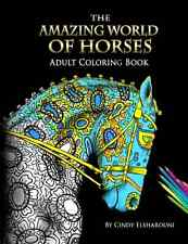 Coloring Book For Adults Horses Animals Relief Therapy Stress Relaxation Art