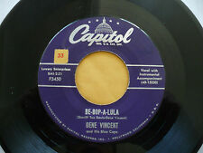 GENE VINCENT- BE BOP A LULA/WOMAN LOVE RARE 1956 ROCKABILLY EARLY ROCK N ROLL 45