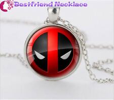 Deadpool personality Red and Black  silver necklace for women men Jewelry#T23