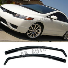 For 06-11 Honda Civic In-Channel Vent Side SI OE Window Visor 2Dr Coupe JDM