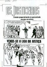 Justice League America #8 ACETATE COVER ART Os Justiceiros JLA 1960's B/W PROOF