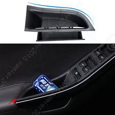 Fit For Ford Focus 2012-2017  Interior Door Armrest Storage Box - 2pcs/set Black