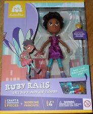 Ruby Rails Skydive Action Figure GoldieBlox Build & Craft Parachute STEM