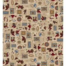 HOLD 'EM or FOLD 'EM Western Tan Quilt Fabric Maywood Studio by 1/2 yd #8380-E