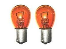 2x P21W BA15s 343 382 12v Amber/Orange Indicator Light Car Bulbs (Opposite Pins)