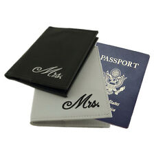 Gay Lesbian Couple Wedding Mrs & Mrs Passport Covers Cases Gift Honeymoon