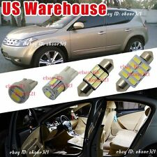 13-pc Luxury White LED Lights Interior Package Dome Kit for 03-07 Nissan Murano