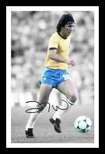 ZICO - BRAZIL AUTOGRAPHED SIGNED & FRAMED PP POSTER PHOTO