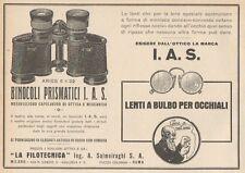 Z1416 Binocoli LA FILOTECNICA Ing. Salmoiraghi - Pubblicità d'epoca - 1928 Ad