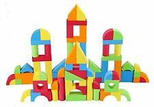Creative Educational EVA Foam Building Blocks, 131 Pcs Colorful Learning Curve