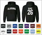 State of Alabama Custom Personalized Name & Number Jersey Hooded Sweatshirt