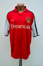 ARSENAL LONDON 2000/2001/2002 DREAMCAST HOME FOOTBALL SHIRT JERSEY MAGLIA NIKE