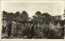 France? WWI Soldiers Cemetery? Unidentified Real Photo Postcard c1920