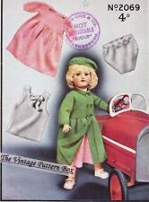 "VINTAGE DOLLS SET for 18"" to  21"" / 3ply- doll knitting pattern"