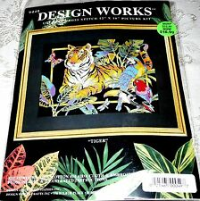 "Design Works Counted Cross Stitch Kit TIGER 12"" x 16"""