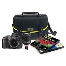 Nikon D3000 10.2 MP Digital SLR 6 Piece Bundle w/ 18-55mm & 55-200mm Zoom Lens