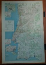 1942 US Army Road Map of Portugal GSGS 4352