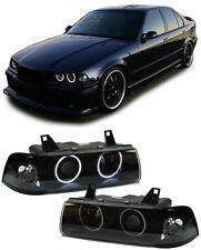 BMW E36 Limousine Touring  CCFL ANGEL EYES H1 H3 SCHEINWERFER SCHWARZ
