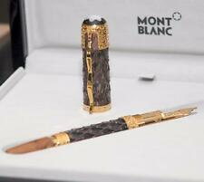 MONTBLANC GENGHIS KHAN FOUNTAIN PEN YELLOW GOLD LIMITED EDITION 88 (SEALED)