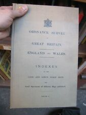 SCARCE ORDNANCE SURVEY OF THE GREAT BRITAIN CA 1890 MAPS 1/2500 AND 6'' COMPLETE