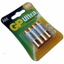 4 PACK AAA BATTERIES GP ULTRA ALKALINE HIGH POWER 24AU LR03 MN2400 EXPIRY 2022
