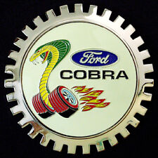 Bicycle / Tri-cycle Basket Ford Mustang Cobra Car Badge Grille NEW