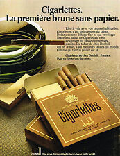 PUBLICITE ADVERTISING 064  1972  DUNHILL  les cigarlettes