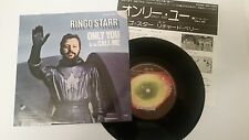 "RINGO STARR ""ONLY YOU"" with insert Japan 7"" vinyl Beatles"