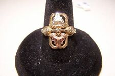 10K YELLOW AND ROSE BLACK HILLS GOLD LEAVES RING SIZE 7