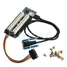 Mini PCI-E Express to Dual PCI Riser Extend Adapter Card with 2.4ft Cable H1pc