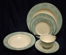 Homer Laughlin Cavalier Eggshell Romance China 6 Piece Place Setting Mid-Century