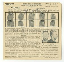 Wanted Notice - Harry Ralph Bever/Various Charges - FBI - 1943