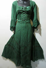 Christmas Holiday Dress 2X 3X Plus Renaissance Green Corset Lace Chest NWT 522