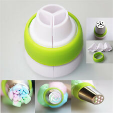 3-Color Icing Piping Bag Russian Nozzle Converter Coupler Cake Decorating Tools