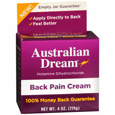 NEW Australian Dream Back Pain Relief Cream 4 oz ships same day AUTHENTIC