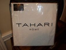 NIP Tahari White Eyelet Paisley Full/Queen Duvet Cover Set 3pc